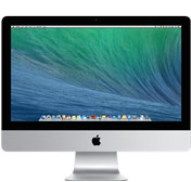 iMac 21.5-inch, Intel Core i5 1.4 GHz (Turbo Boost jopa 2.7 GHz) , 8 GB, 500 GB , Tuotteen ikä: 20 kuukautta