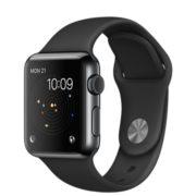 Apple Watch Watch Standard 38mm, Musta, Tuotteen ikä: 21 kuukautta