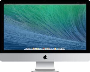 """iMac 27"""" Late 2013 (Intel Quad-Core i5 3.4 GHz 16 GB RAM 256 GB SSD), Intel Quad-Core i5 3.4 GHz (Turbo Boost jopa 3.8 GHz), 16 GB, 256 GB SSD, Tuotteen ikä: 54 kuukautta"""