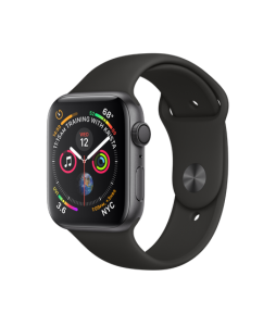 Watch Series 4 Aluminum (44mm), Black Sport