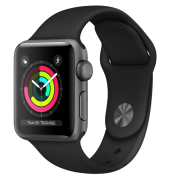Watch Series 3 (gps) Alum 42mm, Space Gray, Black Sport Band