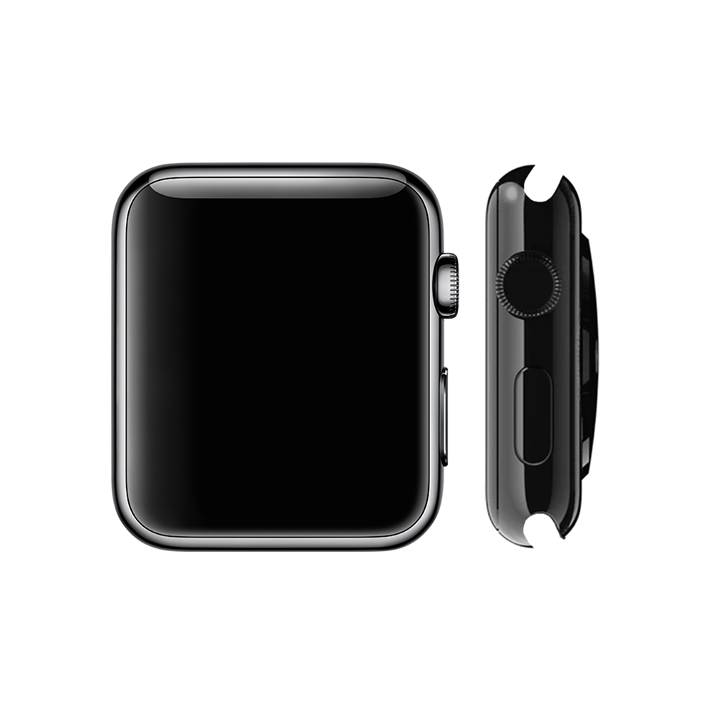 Watch 1st gen Standard (42mm), Black Stainless Steel, Black Sport Band