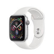 Watch Series 4 Aluminum (40mm), Silver, White Sport Band
