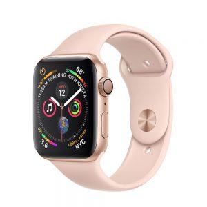 Watch Series 4 Aluminum Cellular (44mm), Gold, Pink Sand Sport Loop