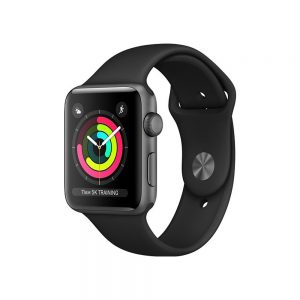 Watch Series 3 Aluminum (38mm), Space Gray, Black Sport Band