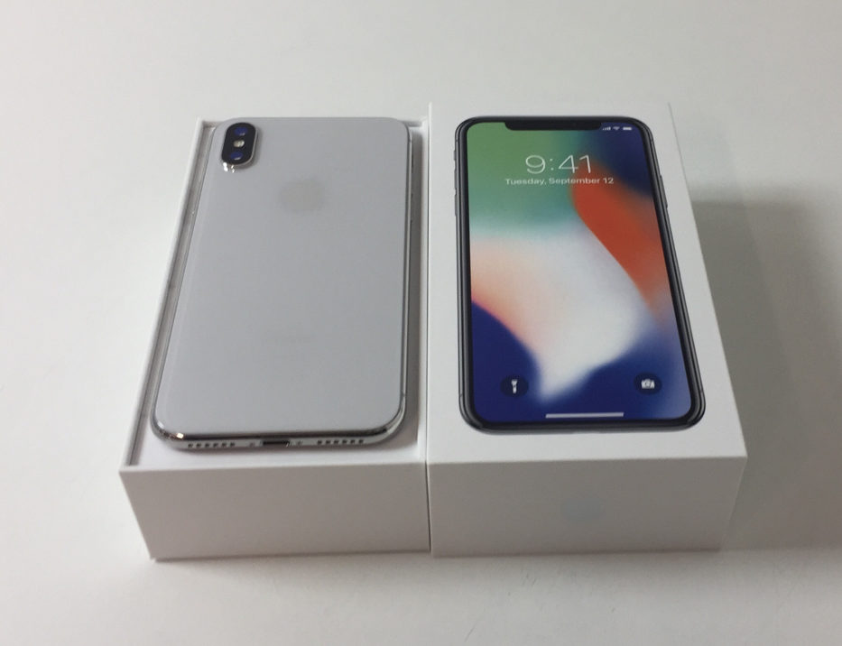 iPhone X 256GB, 256 GB, Silver, bild 2