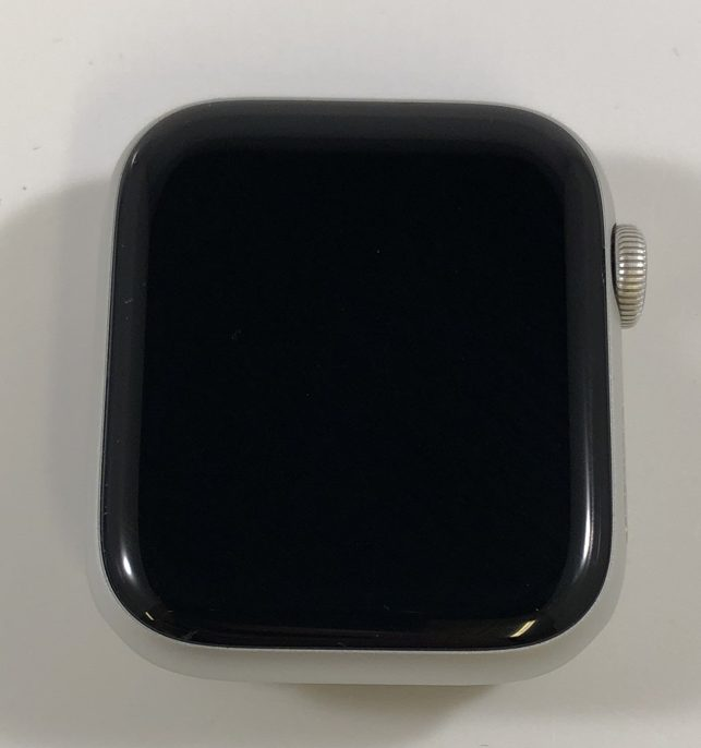 Watch Series 4 Aluminum (44mm), Silver, White Sport Band, image 1