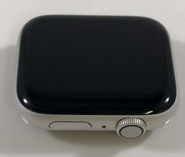 Watch Series 4 Aluminum (44mm), Silver, White Sport Band, image 2