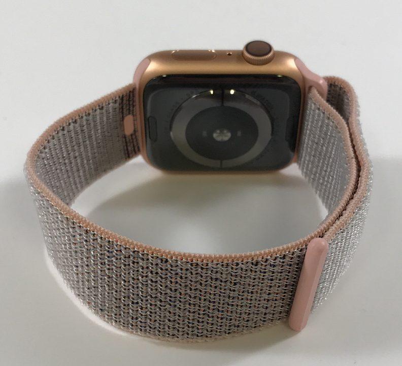 Watch Series 4 Aluminum (44mm), Gold, Pink Sand Sport Loop, imagen 2