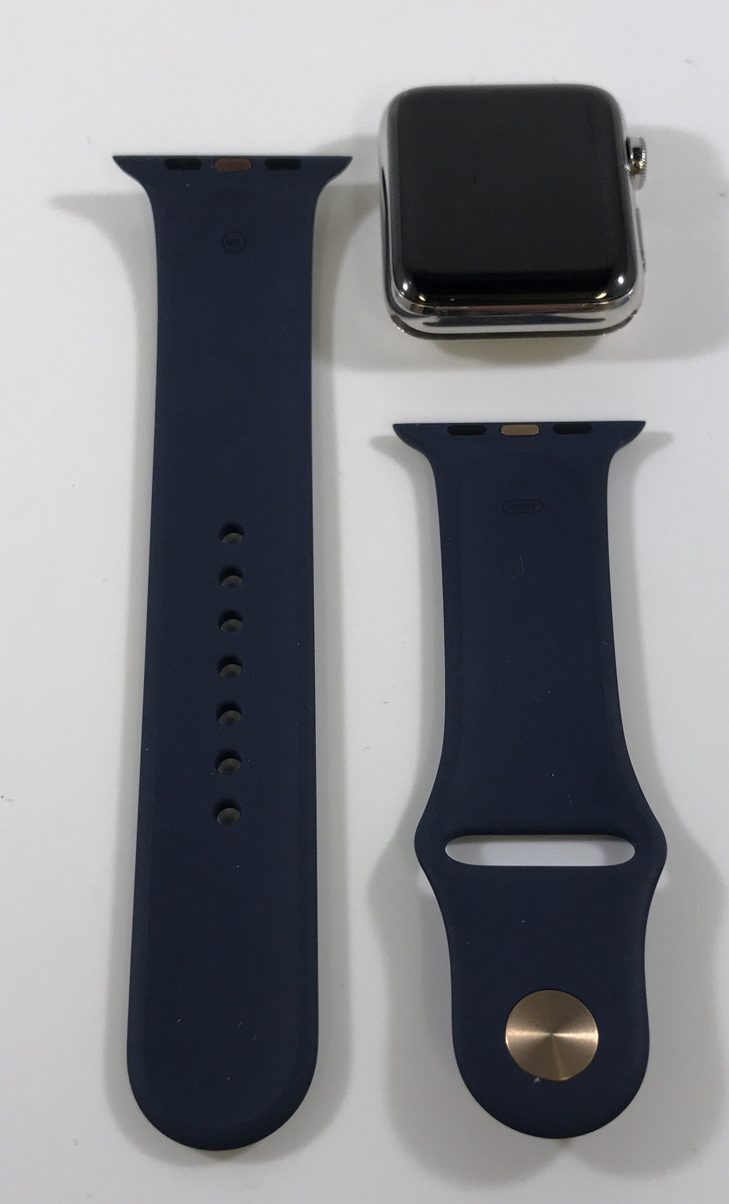 Watch Series 2 Steel (42mm), Stainless Steel, Midnight Blue Sport Band, Kuva 1