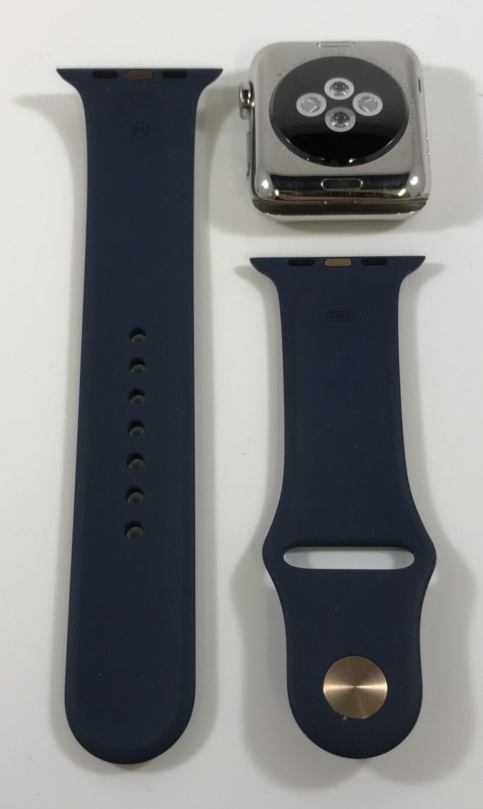 Watch Series 2 Steel (42mm), Stainless Steel, Midnight Blue Sport Band, Kuva 2