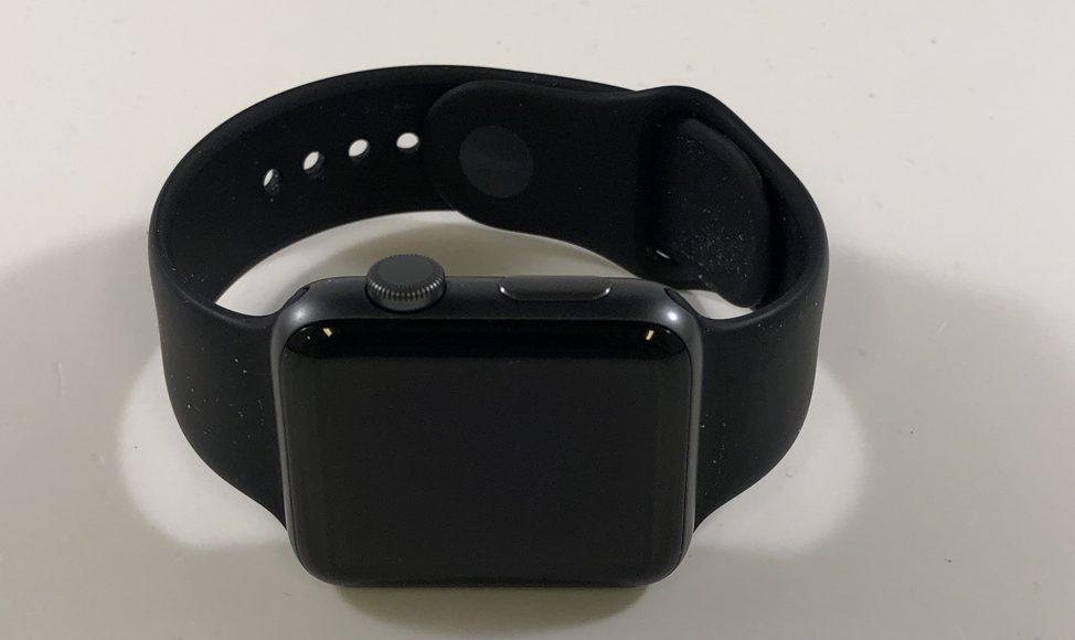 Watch Series 3 Aluminum (42mm), Space Gray, Black Sport Band, Kuva 1