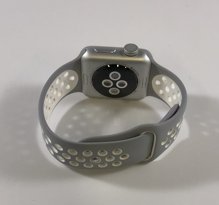 Watch Series 2 Aluminum (38mm), Silver, Silver/White Nike sport band, immagine 2