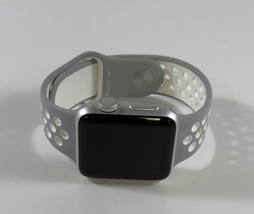 Watch Series 2 Aluminum (38mm), Silver, Silver/White Nike sport band, immagine 1
