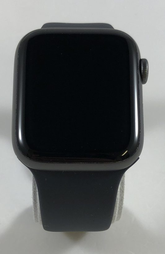 Watch Series 4 Aluminum Cellular (44mm), Space Gray, Black Sport Band, image 1