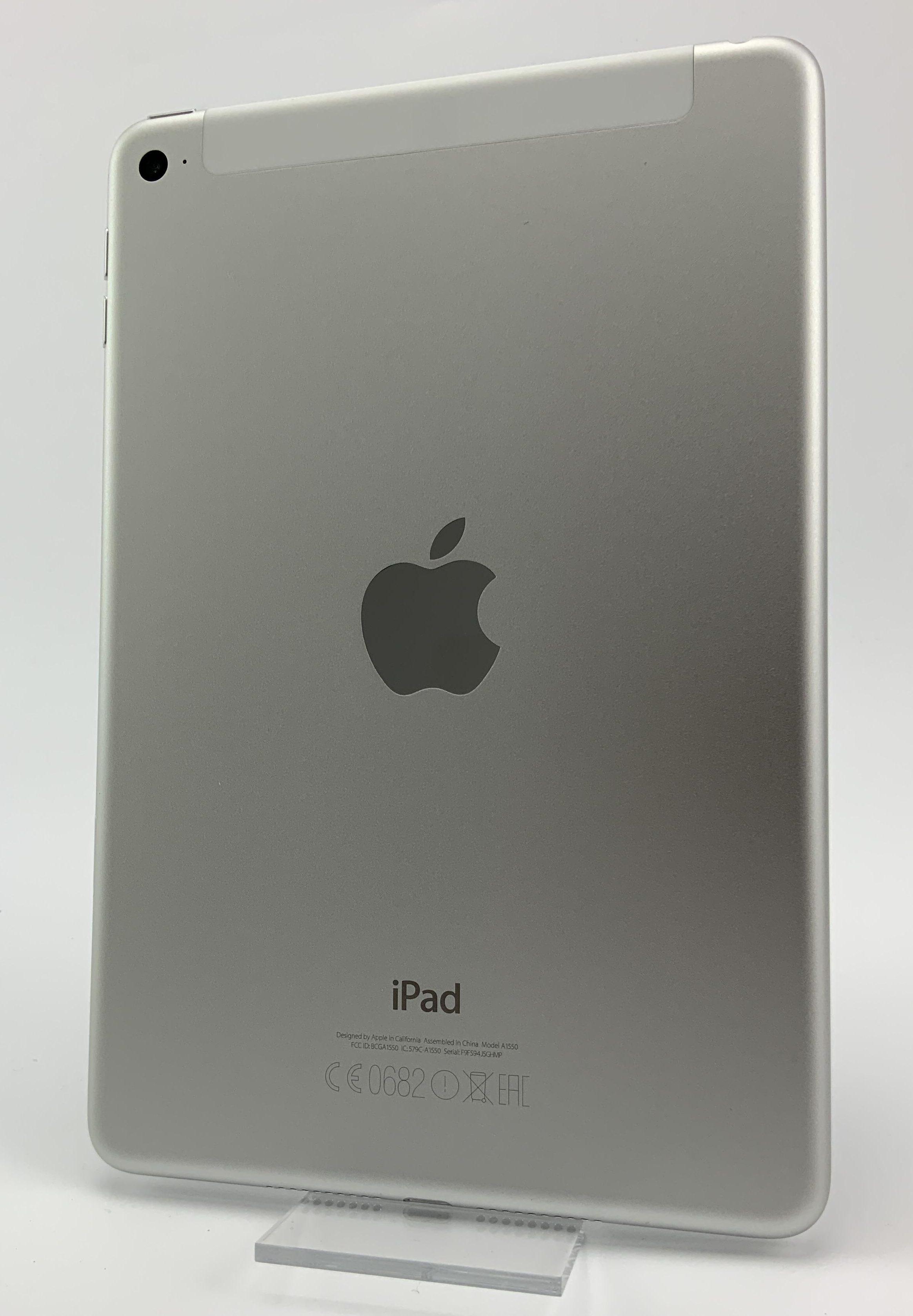 iPad mini 4 Wi-Fi + Cellular 128GB, 128GB, Silver, Kuva 2