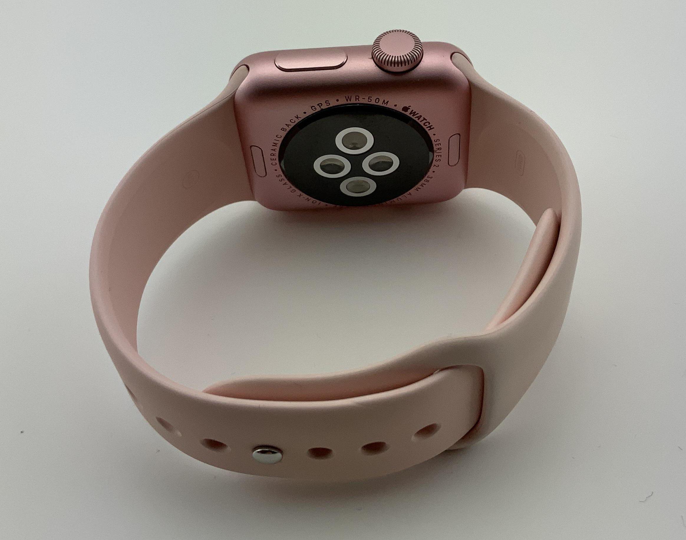 Watch Series 2 Aluminum (38mm), Rose Gold, Pink Sand Sport Band, Bild 3
