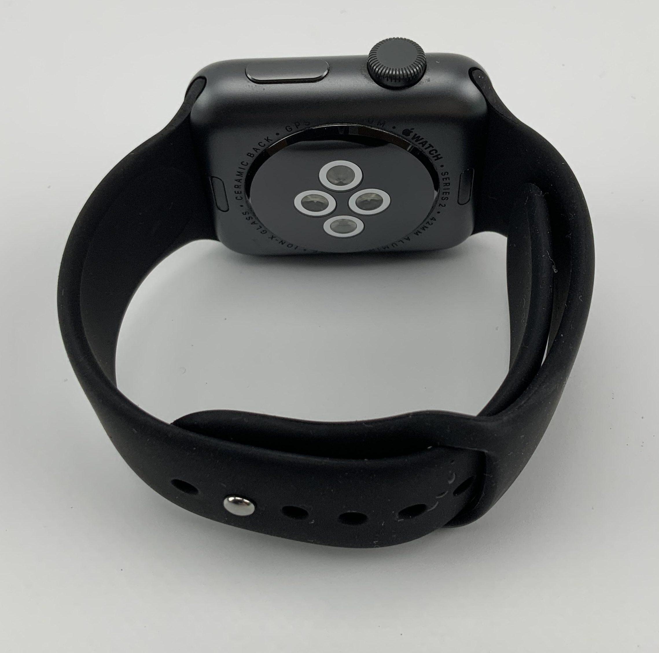 Watch Series 2 Aluminum (42mm), Space Gray, Black Sport Band, obraz 2