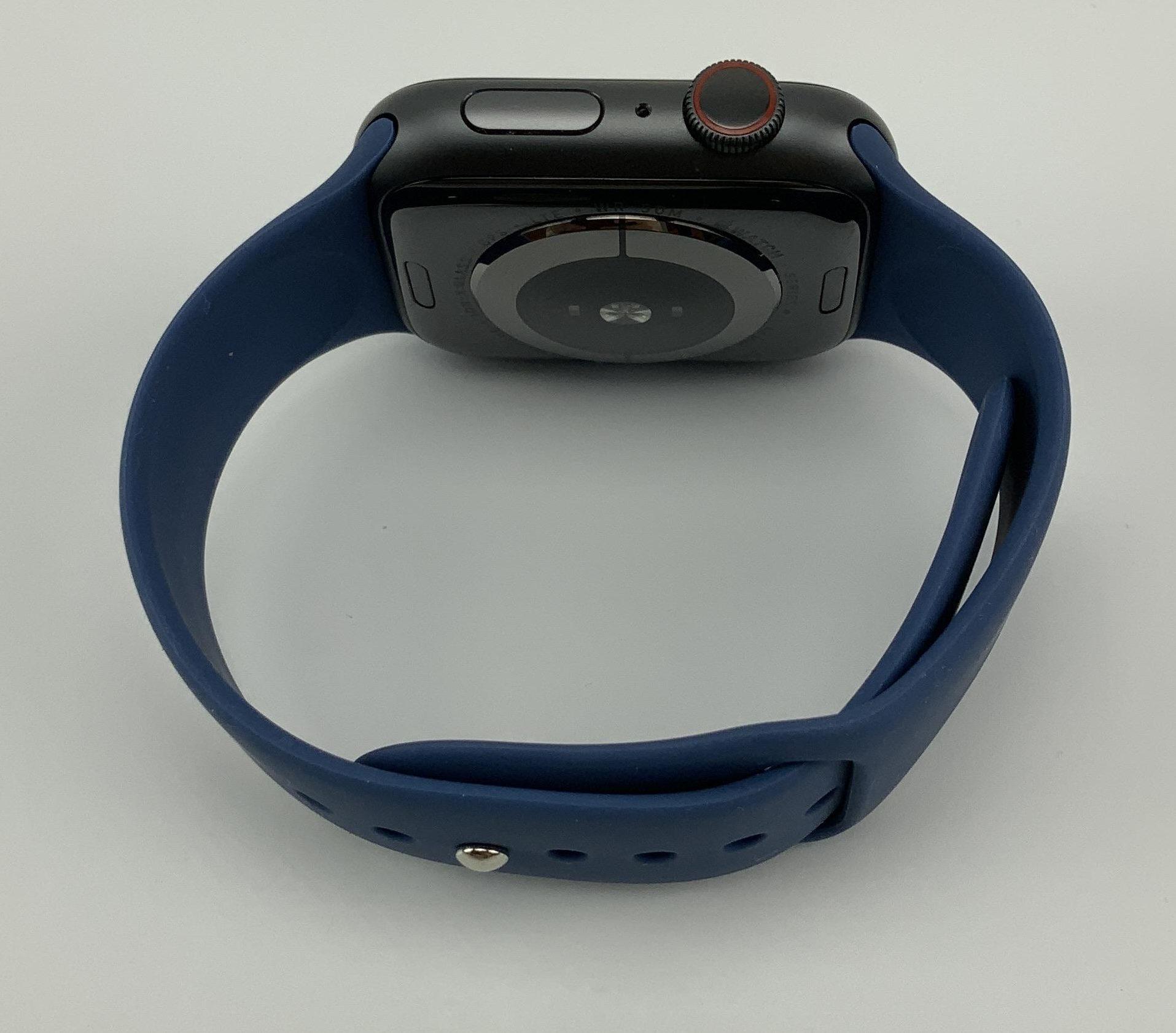 Watch Series 4 Aluminum Cellular (44mm), Space Gray, Deep Navy Sport Band, Bild 2