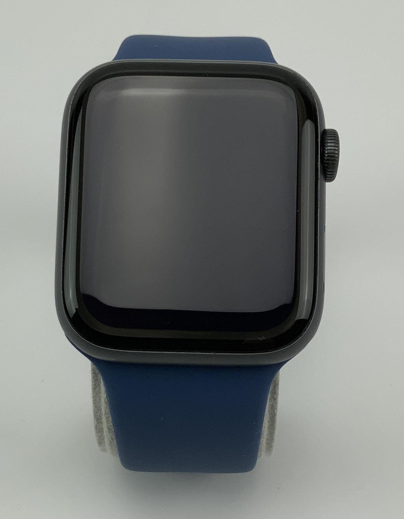 Watch Series 4 Aluminum Cellular (44mm), Space Gray, Deep Navy Sport Band, Bild 1