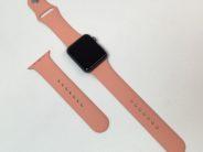 Watch 1st gen Sport (42mm), Apricot Silicone (S/M ja M/L)